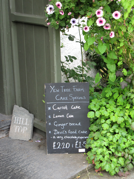 Yew Tree Farm, time for some refreshments!