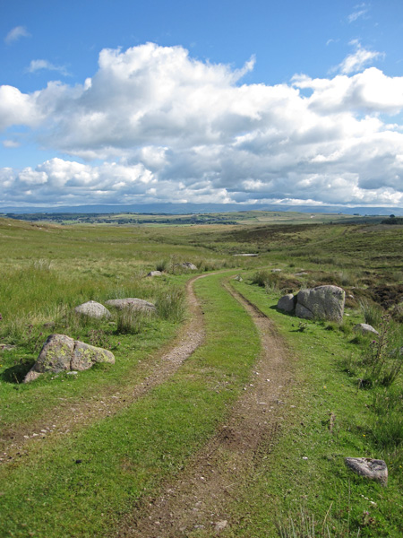 Cloud over the North Pennines from the track to the Lunch House