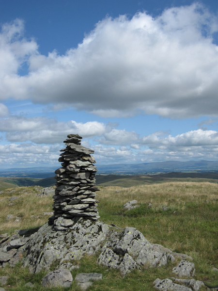 Harrop Pike's summit cairn