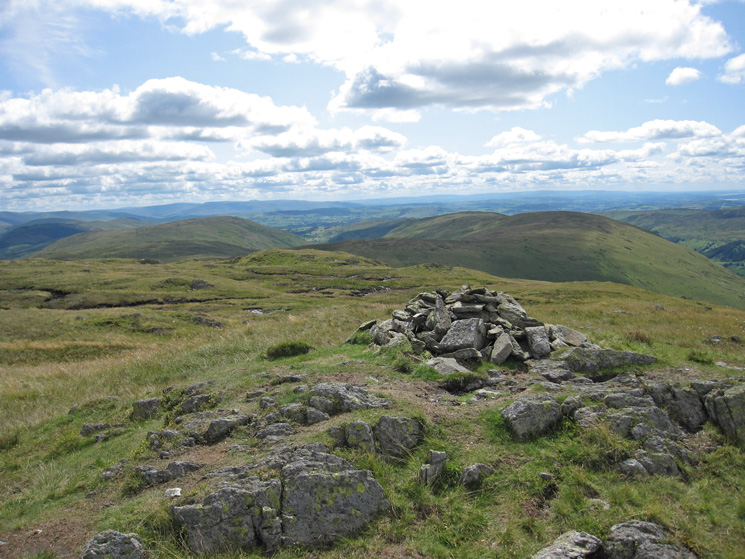 Towards Bannisdale from Grey Crag's summit cairn
