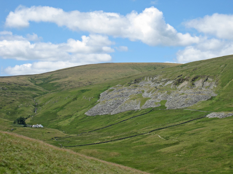Zooming in on Mosedale Cottage and Mosedale Quarry