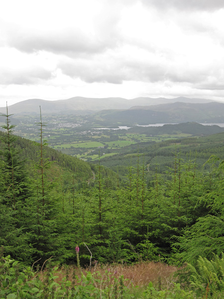 Derwent Water and the Helvellyn range in the distance