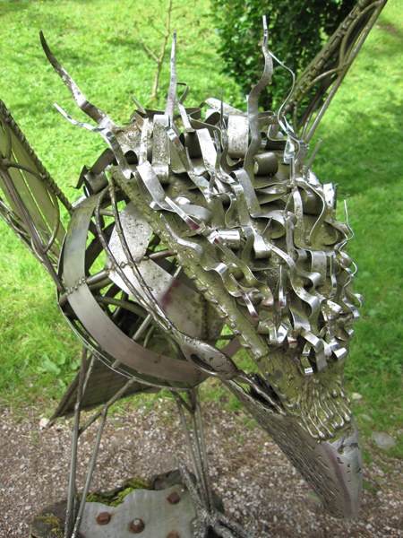 The Osprey sculpture at Whinlatter Visitor Centre