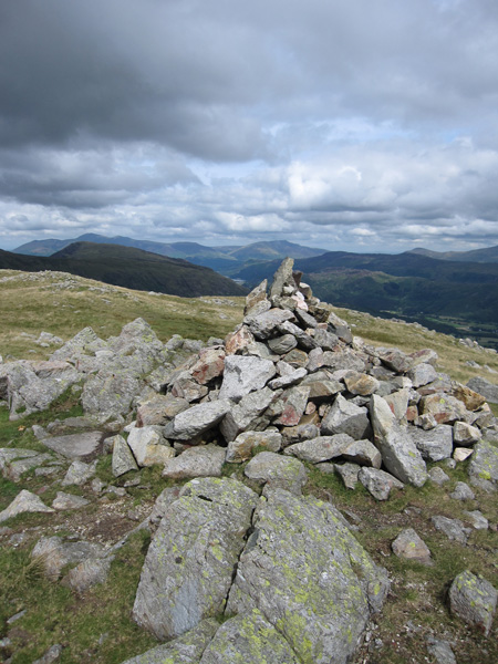 Base Brown's summit cairn
