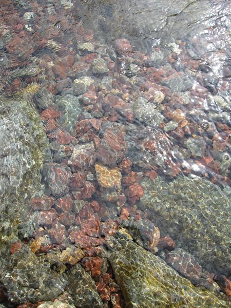 Styhead Gill, crystal clear
