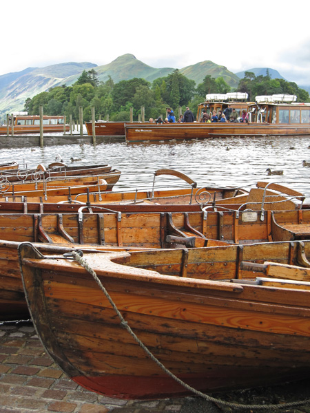 Catbells from Keswick landing stages, Derwent Water