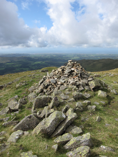 Looking towards the coast from Middle Fell's summit