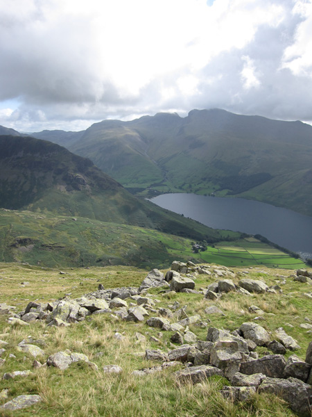 The Scafells from Middle Fell's summit