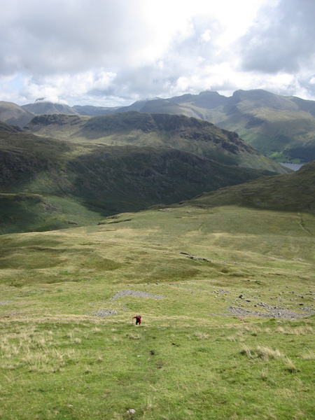Its a steep climb up Seatallan this way, but great views of the Scafells