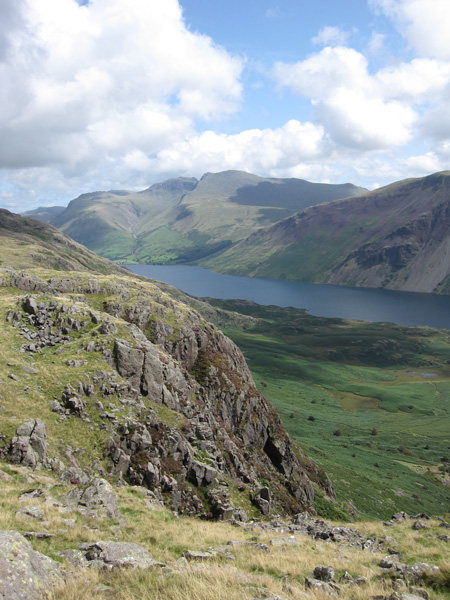 The Scafells and Wastwater from Buckbarrow