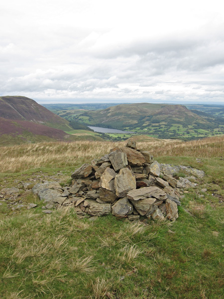 A glimpse of Loweswater from Hen Comb's summit