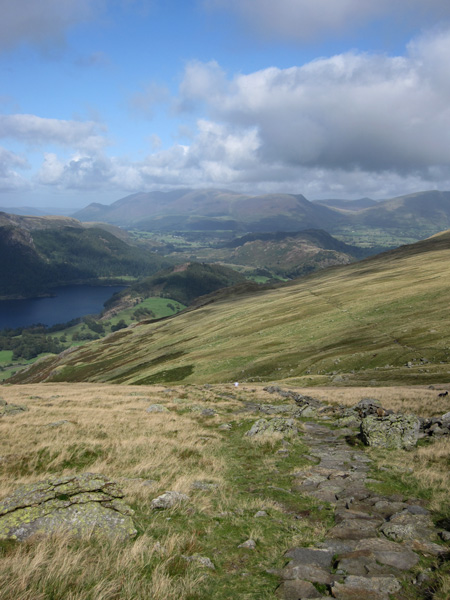 Towards Skiddaw from the Browncove Crags path