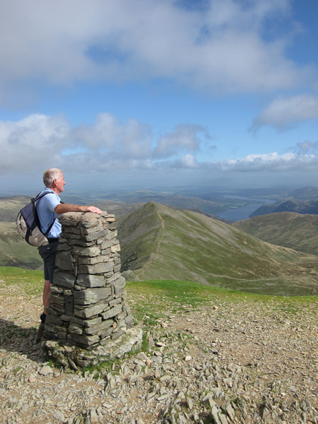 Dad at Helvellyn's trig point