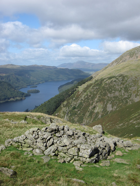 Thirlmere with Skiddaw in the distance