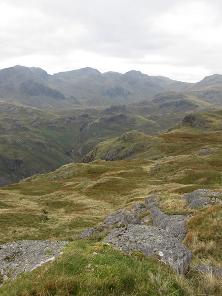The Scafells from Hard Knott