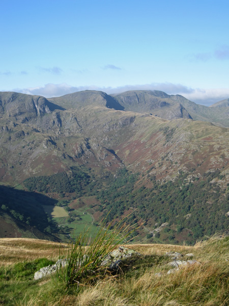 Over Dovedale to Dove Crag, Hart Crag and Fairfield