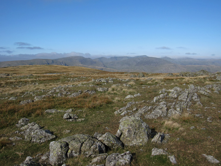 Towards Fairfield and Helvellyn from Caudale Moor