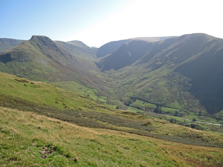 Pasture Bottom from our descent off Brock Crags