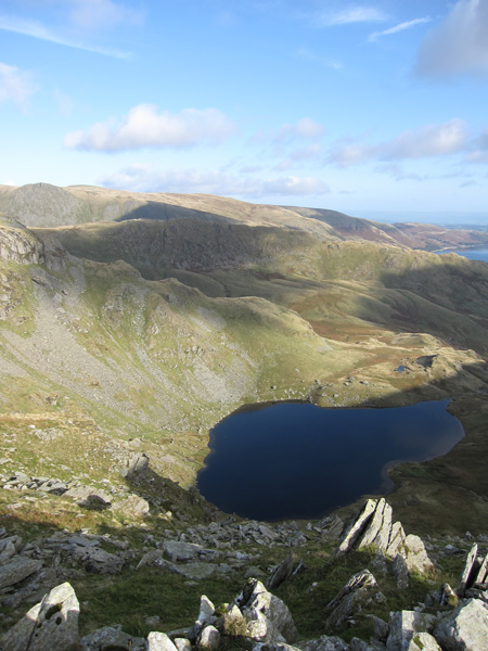 Way above Small Water now as I ascend Harter Fell from Nan Bield Pass
