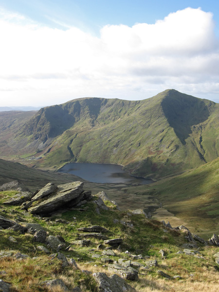 Yoke and Ill Bell above Kentmere Reservoir