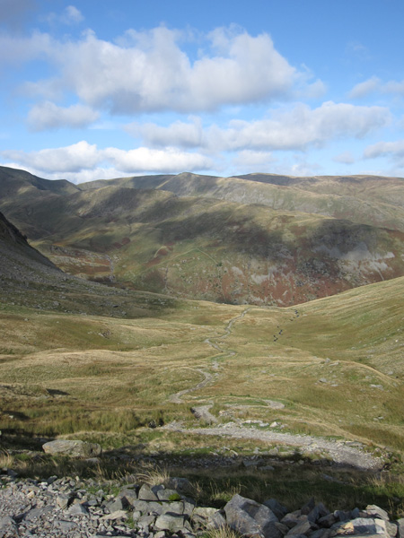 The Gatescarth Pass track down to Mardale Head