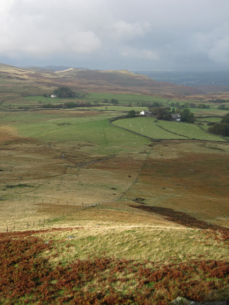 Looking back down on Birkerthwaite, the buildings on the right