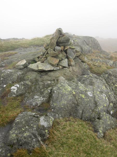 Green Crag's summit cairn