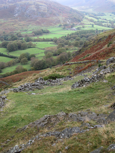 Part of the Low Birker peat track, taking us back down into Eskdale