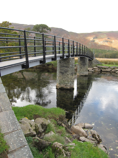 The new Chinese Bridge over the River Derwent