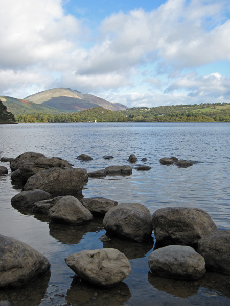 Looking across Derwent Water to Blencathra