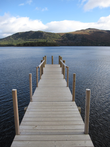 The new landing stage at Hawes End