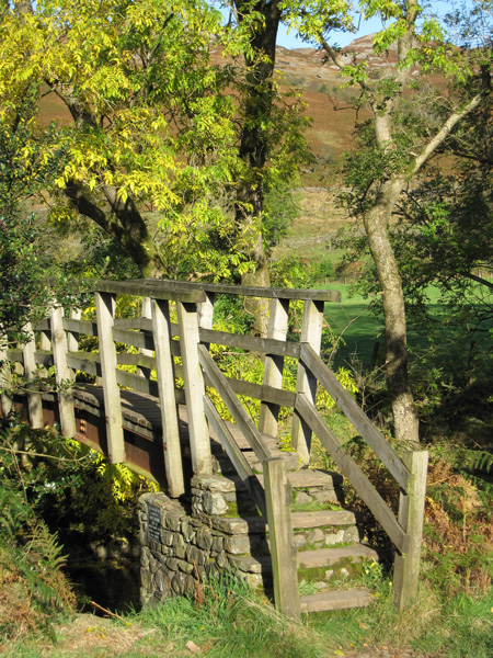 Footbridge across the River Esk, used to get to Taw House