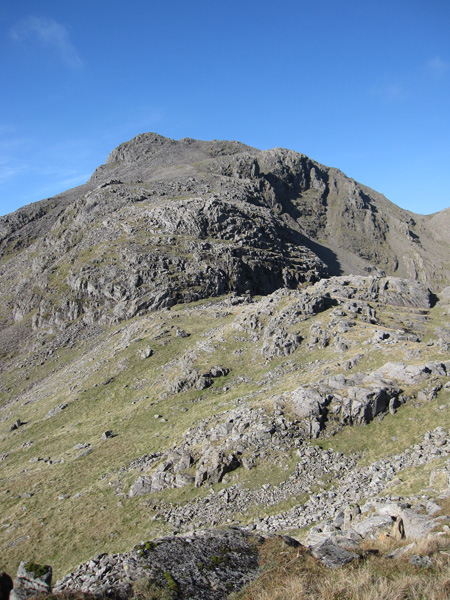 Scafell Pike from Pen's summit