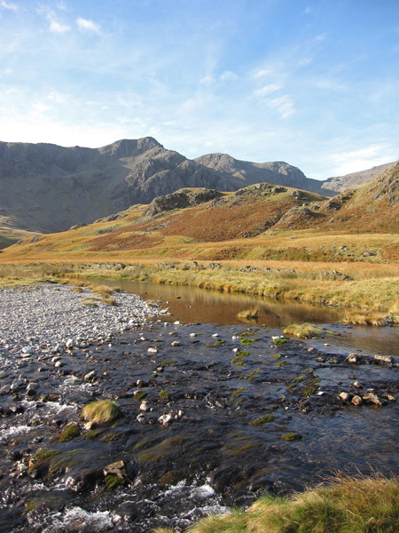 Looking back to Scafell from near Scar Lathing