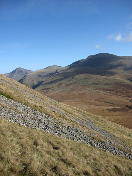 Scafell as we descend to Burnmoor Tarn