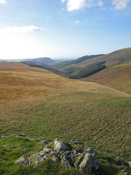 Miterdale with Muncaster Fell in the distance from the summit of Boat How