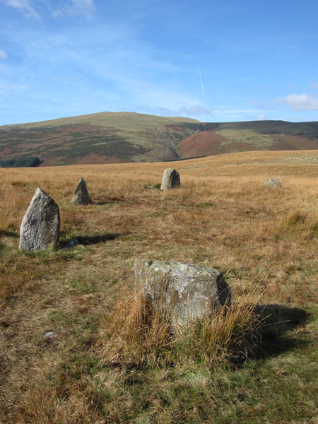 Whin Rigg from one of the several stone circles on Boat How