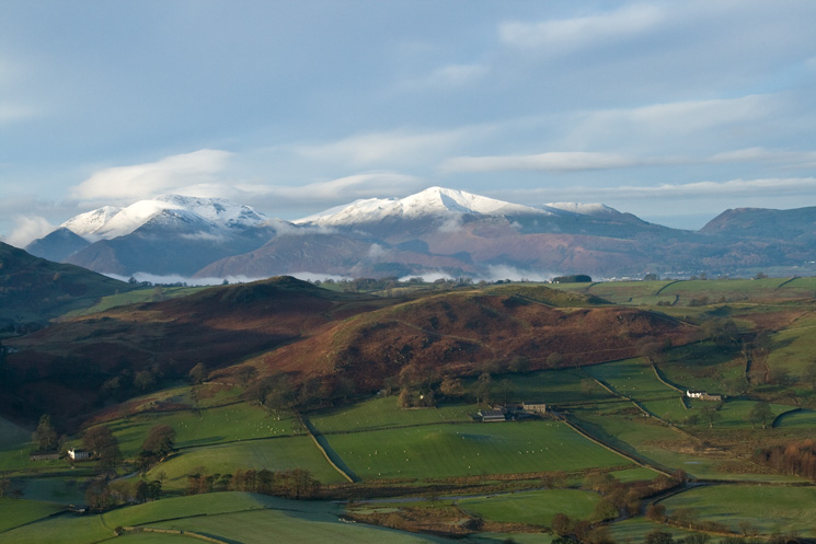 Looking across to the north western fells as we ascend Clough Head