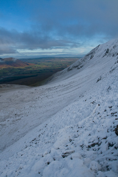 Looking back along our line of ascent