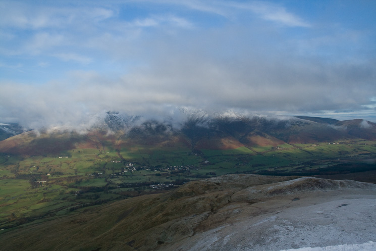 Looking over Threlkeld Knotts to Blencathra