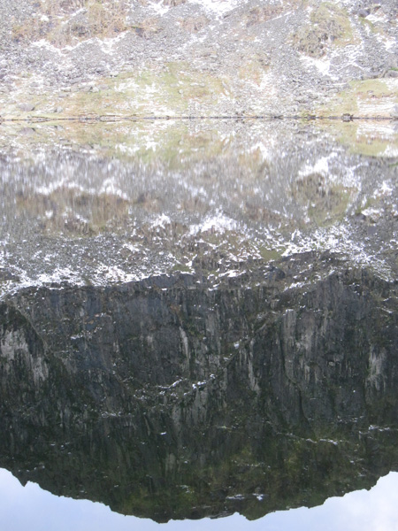 Pavey Ark reflecting in Stickle Tarn