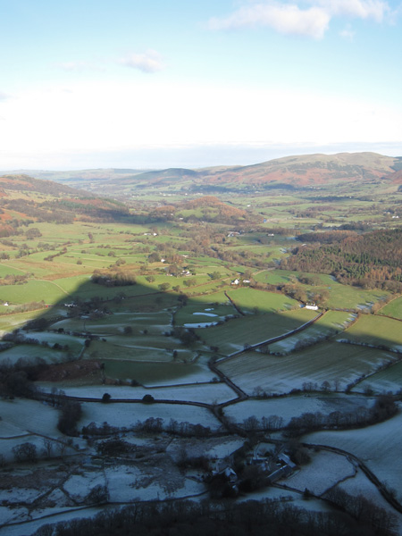 Mellbreak's shadow over part of the Lorton Vale