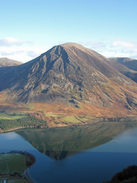 Grasmoor reflecting in Crummock Water