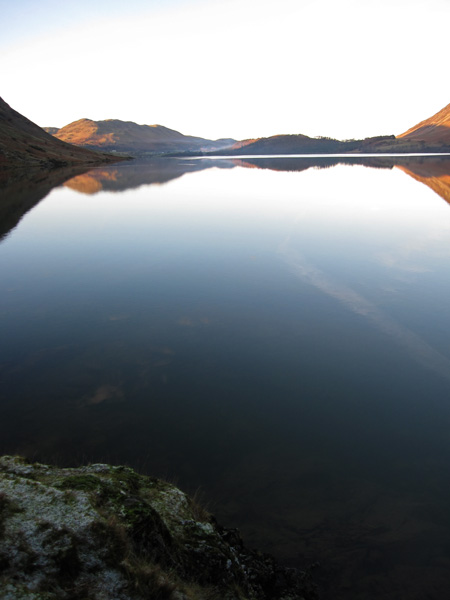 Looking down Crummock Water from Low Ling Crag, not a ripple