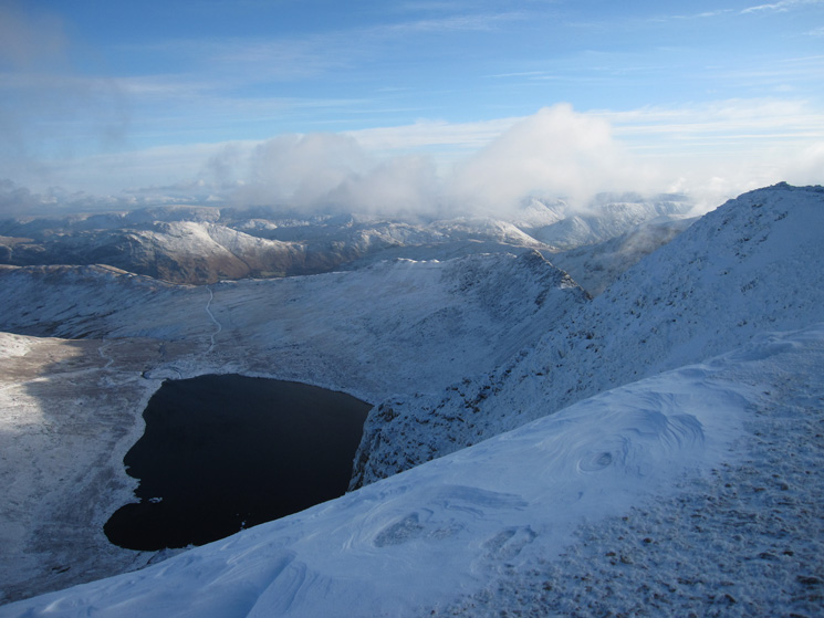 Red Tarn, Striding Edge and the far eastern fells
