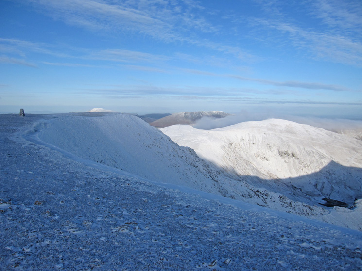 North from Helvellyn's summit