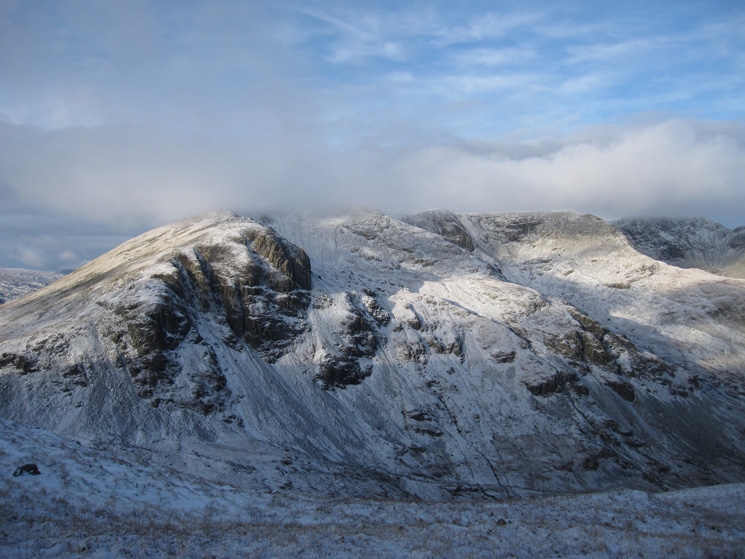 Dollywaggon Pike, Nethermost Pike and Helvellyn from Deepdale Hause