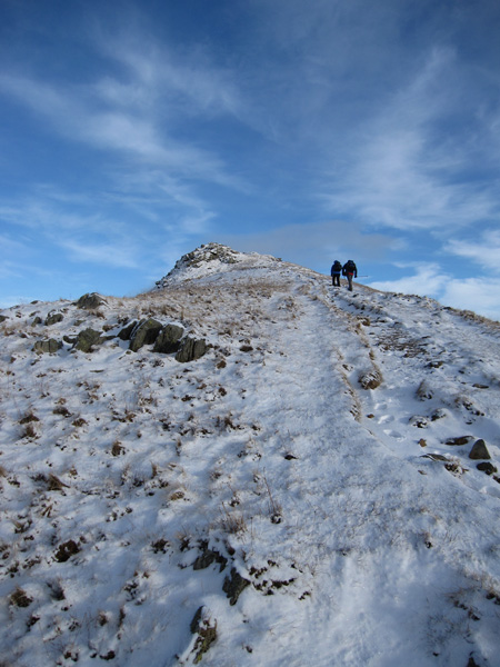 Heading up St Sunday Crag