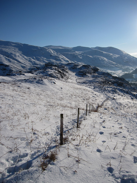 South to the Helvellyn fells