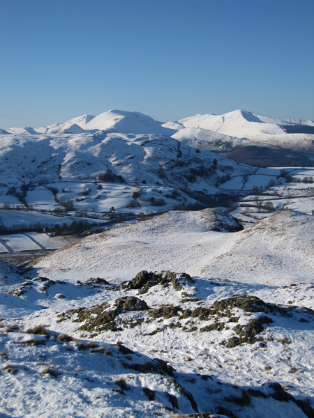 The north western fells from High Rigg's summit